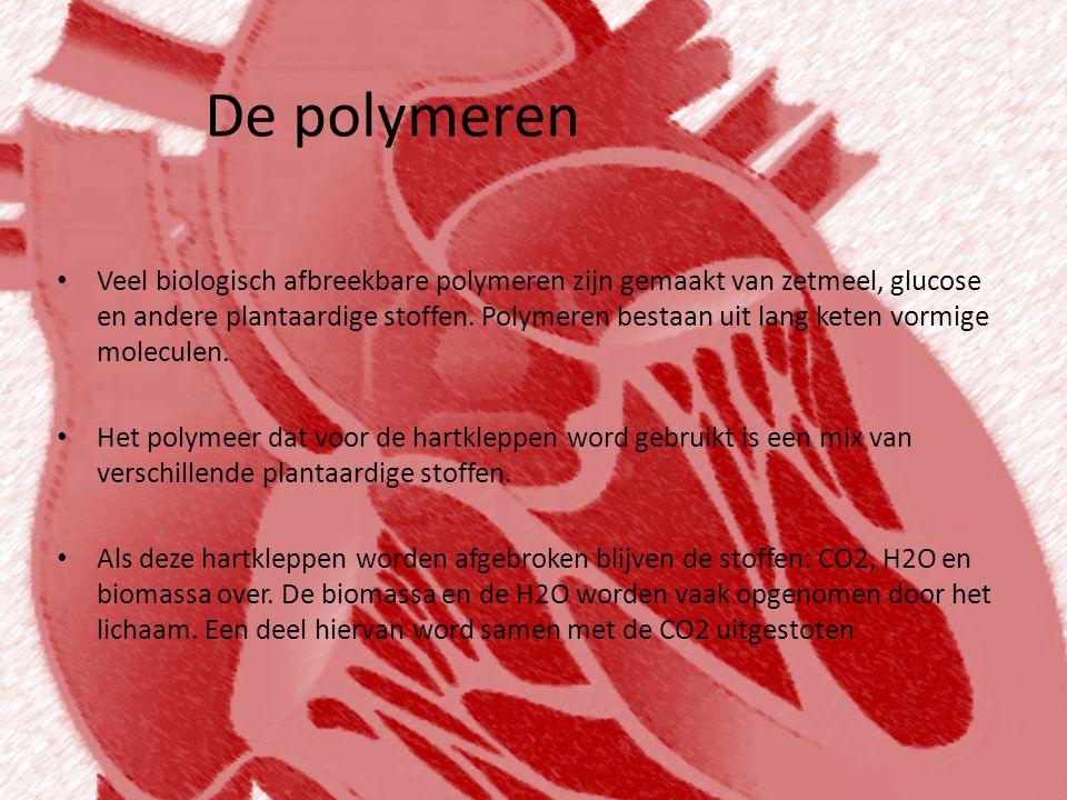 De polymeren • Veel biologisch afbreekbare polymeren zijn gemaakt van zetmeel, glucose en andere plantaardige stoffen. Polymeren bestaan uit lang kete