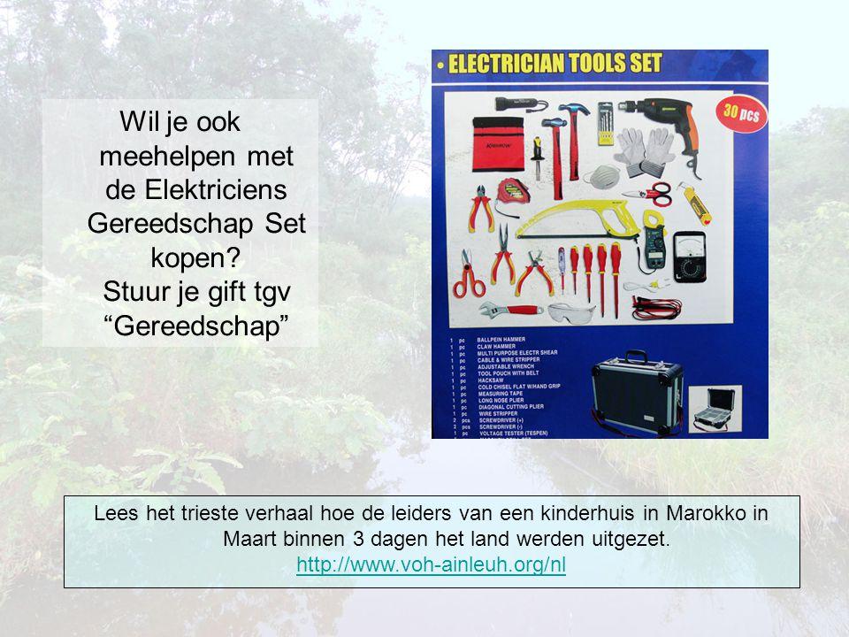 Wil je ook meehelpen met de Elektriciens Gereedschap Set kopen.