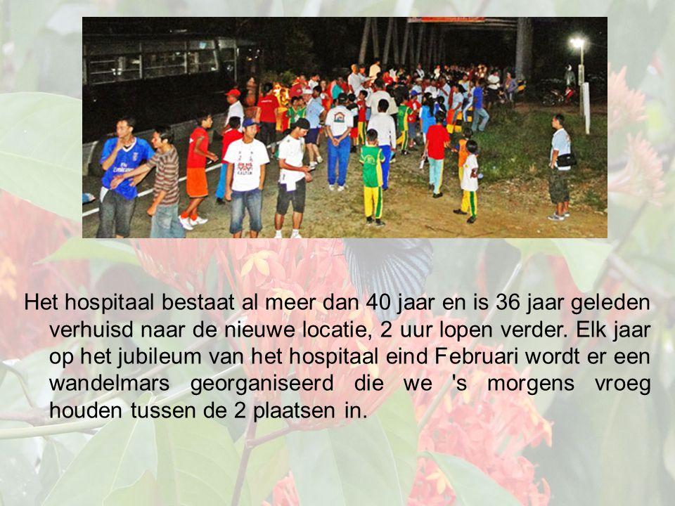 Het hospitaal bestaat al meer dan 40 jaar en is 36 jaar geleden verhuisd naar de nieuwe locatie, 2 uur lopen verder.