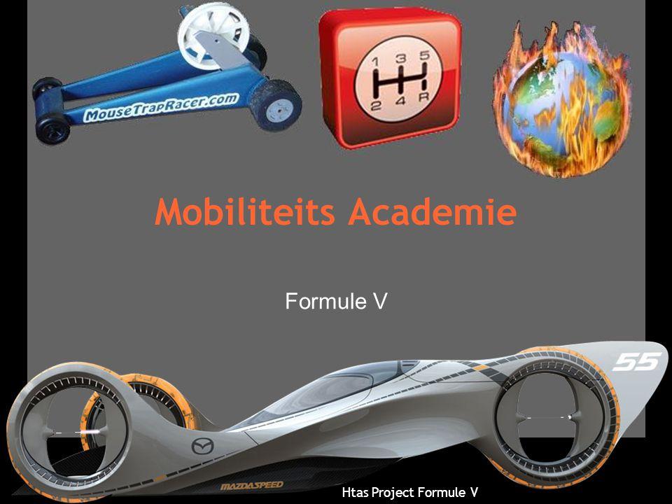 Htas Project Formule V Mobiliteits Academie •Doel Doorstroom MBO – HBO Automotive vergroten •Door –Studie- & beroepsloopbaan perspectief –Integrale studie loopbaan begeleiding –Lesprogramma doorstroom HBO