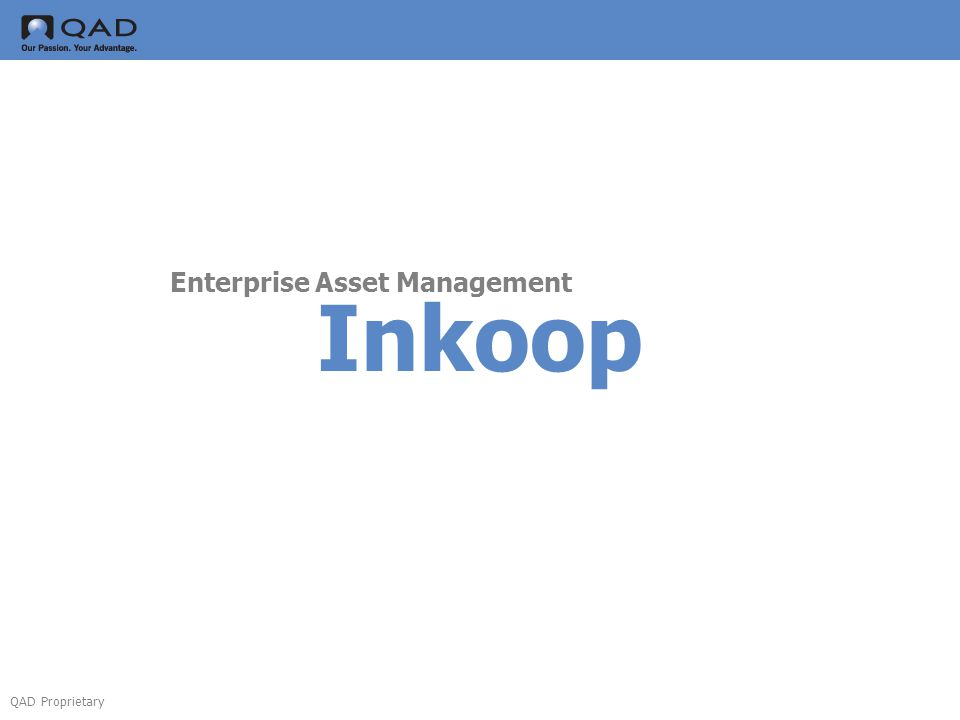 QAD Proprietary Inkoop Enterprise Asset Management