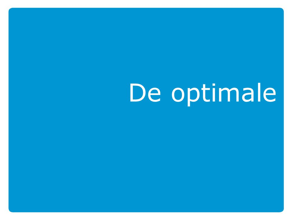 De optimale