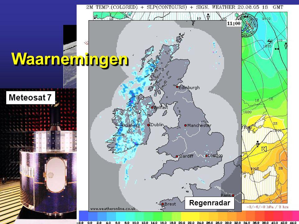 Meridiaan 1 Blz. 70 Klik op logo voor website 21.1 Het weer.... Weerbericht Meteosat 7 Regenradar WaarnemingenWaarnemingen