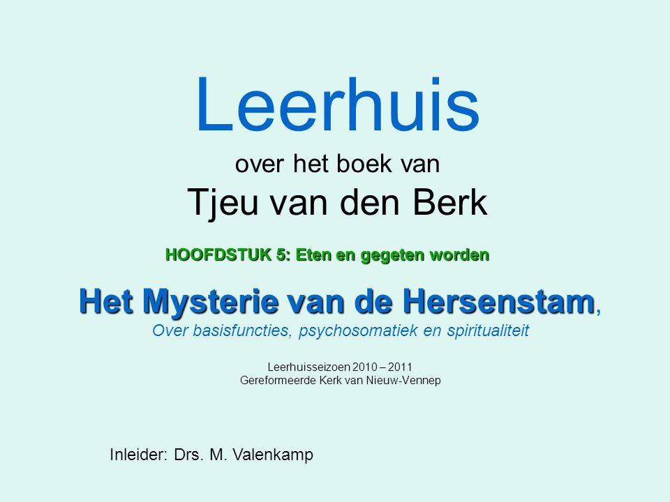 Leerhuis over het boek van Tjeu van den Berk Het Mysterie van de Hersenstam Het Mysterie van de Hersenstam, Over basisfuncties, psychosomatiek en spir