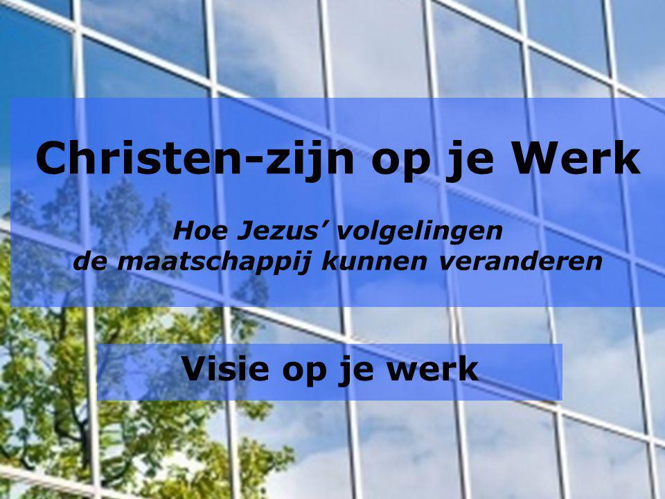 Christen-zijn op je Werk Hoe Jezus' volgelingen de maatschappij kunnen veranderen Visie op je werk