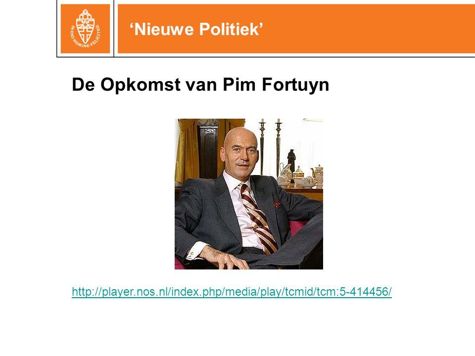 'Nieuwe Politiek' Is de verkiezingsopkomst in ons land eigenlijk wel zo laag.