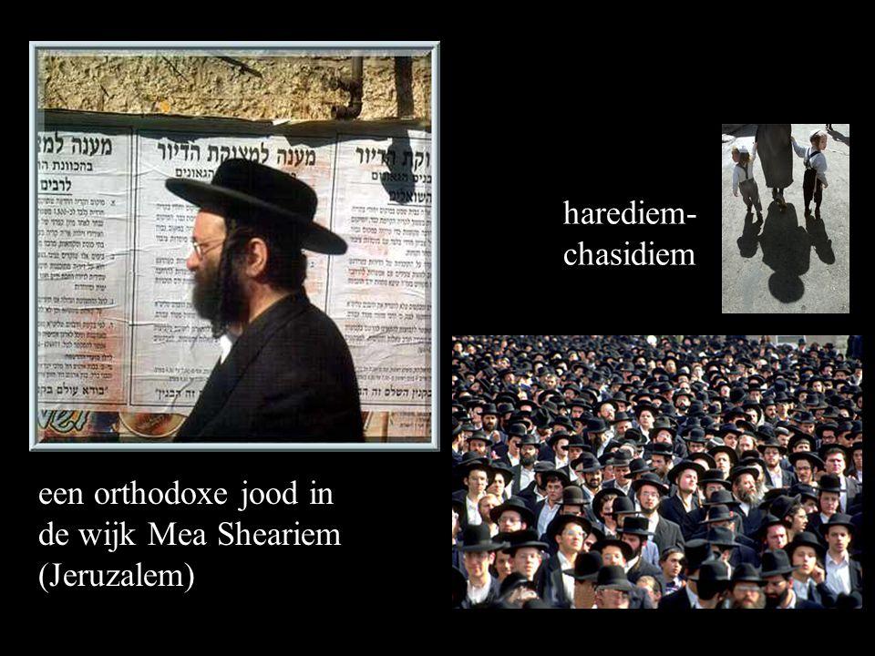 een orthodoxe jood in de wijk Mea Sheariem (Jeruzalem) harediem- chasidiem