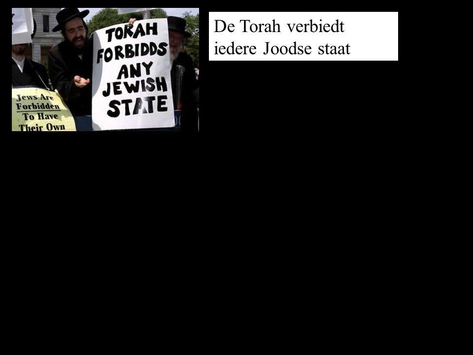 De Torah verbiedt iedere Joodse staat