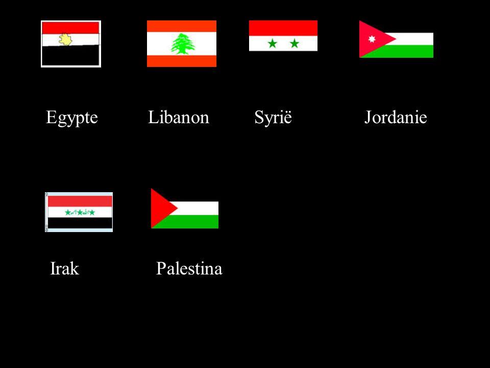 EgypteLibanonSyriëJordanie IrakPalestina