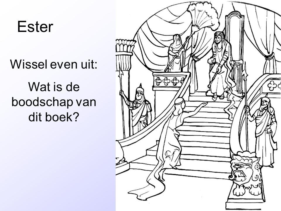 Ester Wissel even uit: Wat is de boodschap van dit boek?