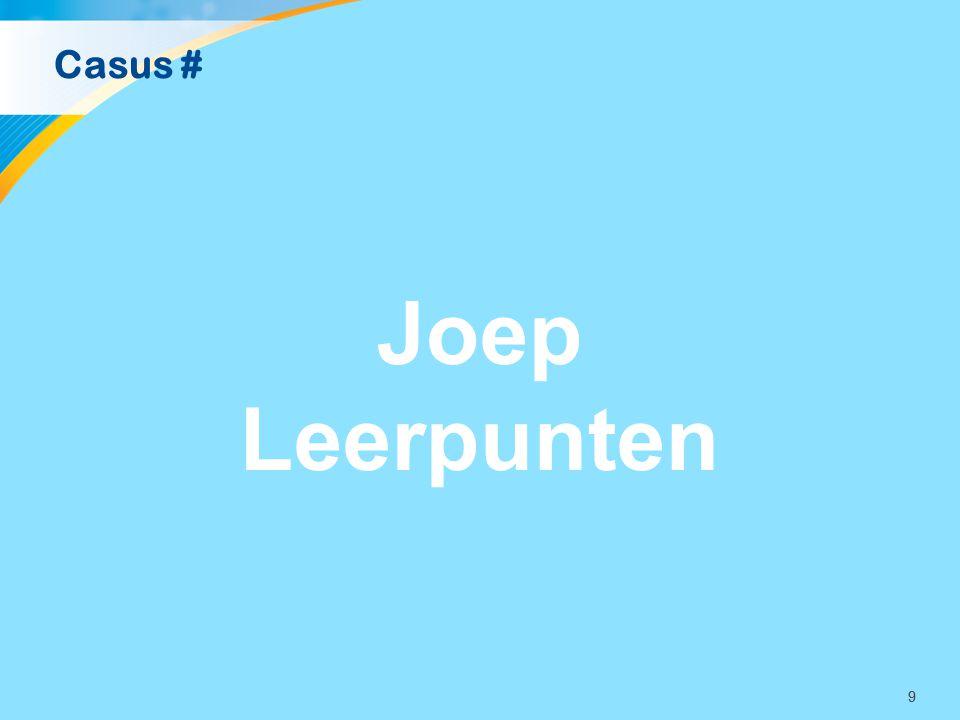 99 Casus # Joep Leerpunten
