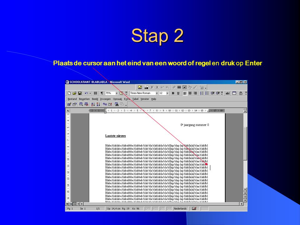 Omlooppunten bewerken Door de omloopblokjes te verslepen, wordt het mogelijk heel nauwkeurig de plaats van de tekst te bepalen.