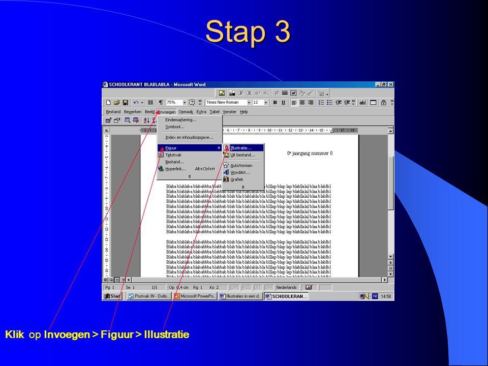 Illustratie verplaatsen Selecteer de illustratie door erop te Klikken Zodra het 4 pijltjes-symbool verschijnt de linkermuisknop ingedrukt houden De illustratie kan nu overal naar toe worden gesleept