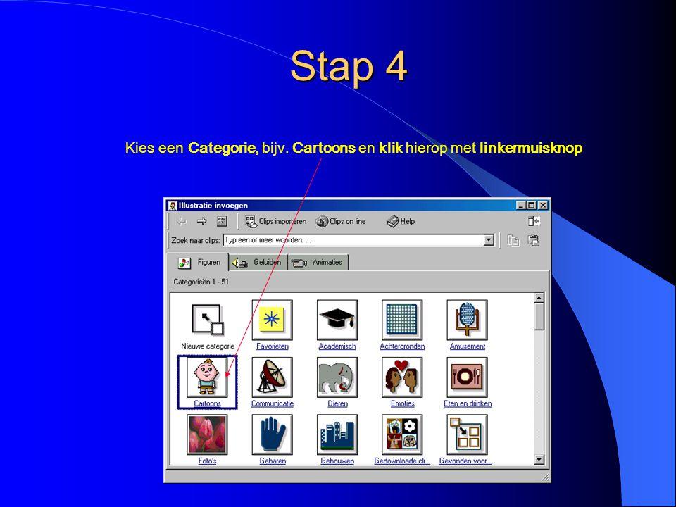 Stap 5 Klik op het gewenste plaatje en klik vervolgens op het bovenste icoontje De afbeelding is nu in je schoolkrant of ander document ingevoegd.