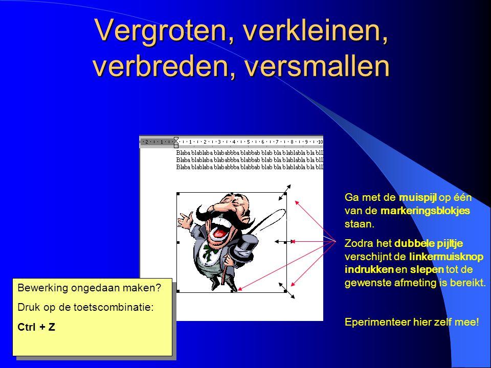 Tekstomloop ACHTER TEKST De illustratie is nu achter de tekst geplaatst Selecteer de illustratie door erop te klikken Klik weer op het hondenicoontje Kies de optie Voor tekst (zie volgende dia)