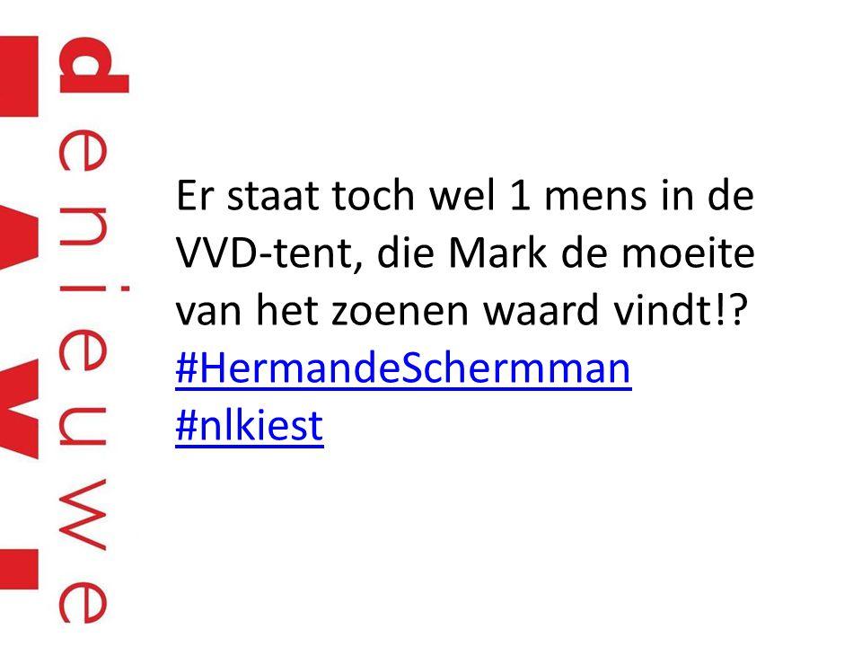 Er staat toch wel 1 mens in de VVD-tent, die Mark de moeite van het zoenen waard vindt!.
