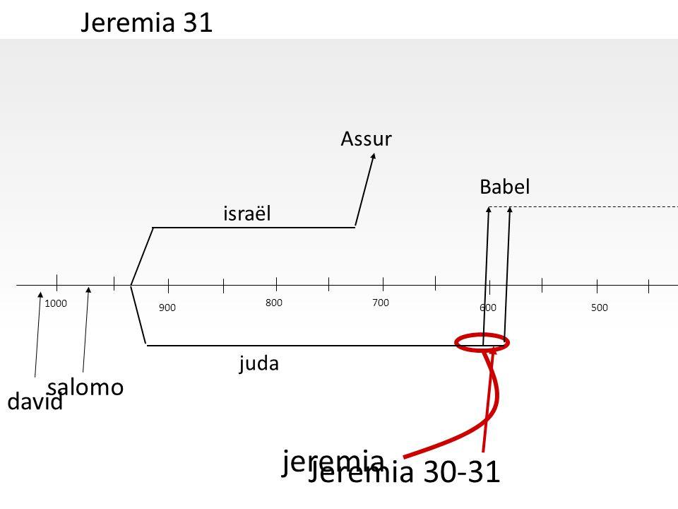 Jeremia 31 1000 500 jeremia david salomo israël juda Assur Babel 600 700800 900 Jeremia 30-31