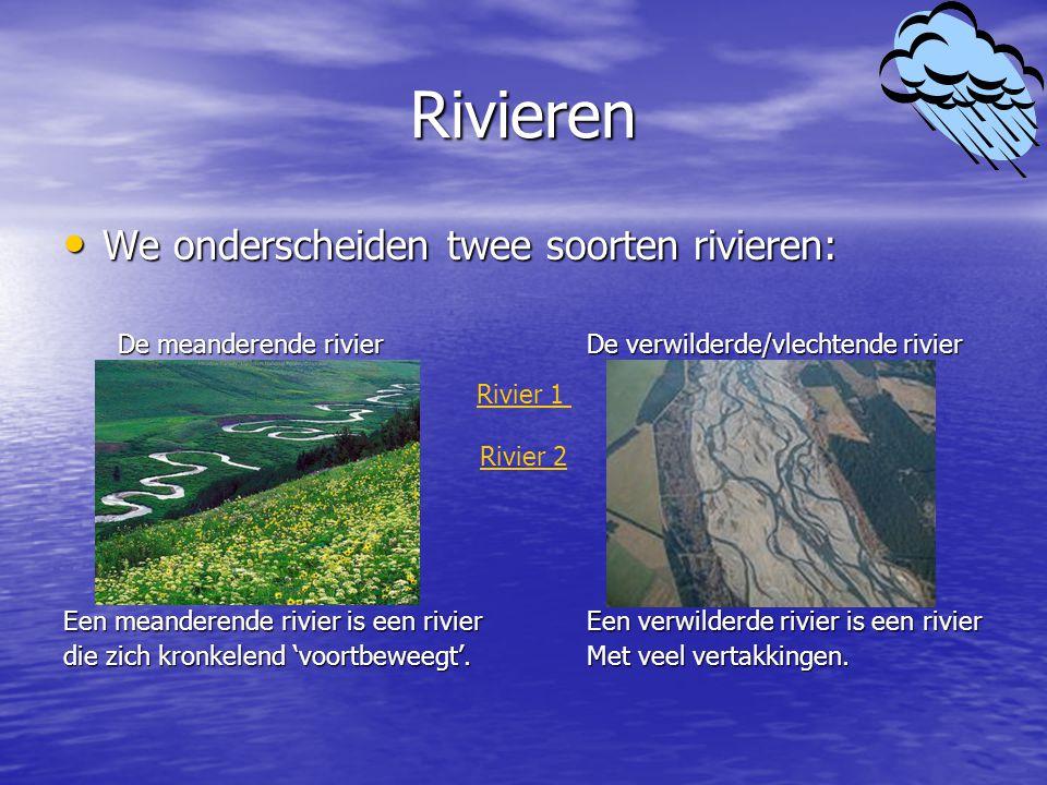 Grondwater Het water wat via neerslag om het land komt kan ook via het grondwater z'n weg terug vinden naar de zee.