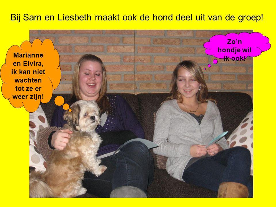 Bij Sam en Liesbeth maakt ook de hond deel uit van de groep! Marianne en Elvira, ik kan niet wachten tot ze er weer zijn! Zo'n hondje wil ik ook!