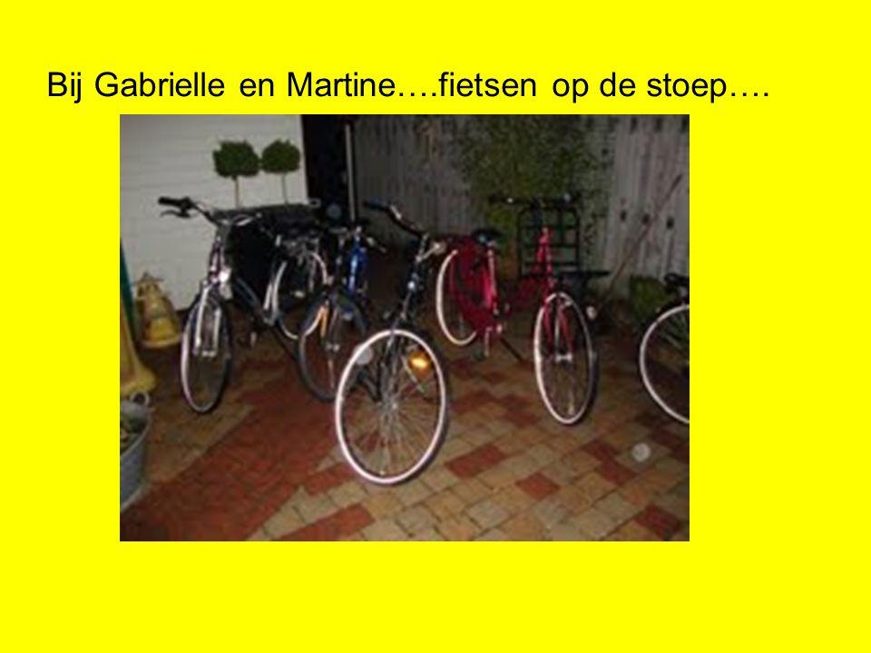 Bij Gabrielle en Martine….fietsen op de stoep….