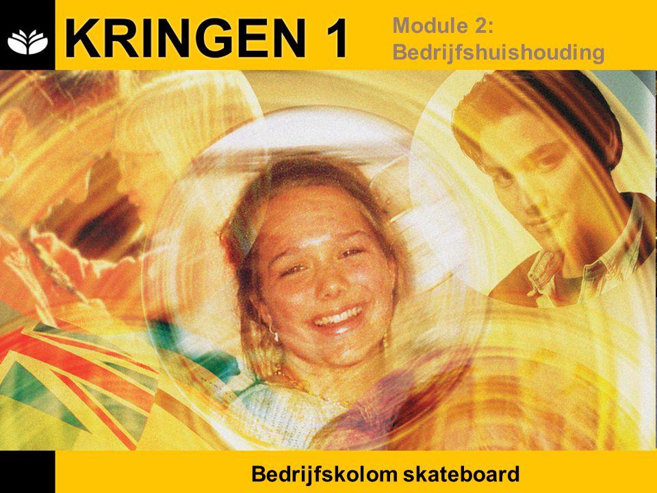 KRINGEN 1 Module 2: Bedrijfshuishouding Bedrijfskolom skateboard