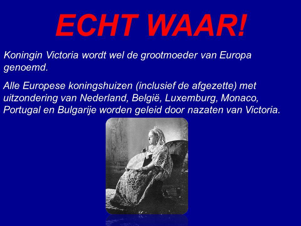 ECHT WAAR! Alle Europese koningshuizen (inclusief de afgezette) met uitzondering van Nederland, België, Luxemburg, Monaco, Portugal en Bulgarije worde