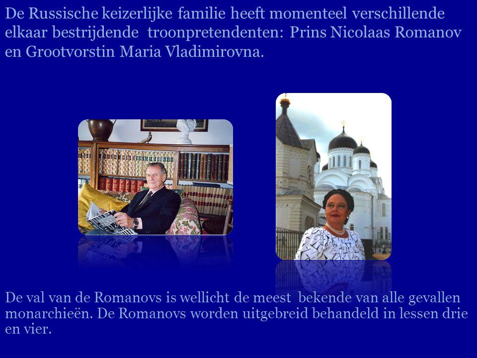 De val van de Romanovs is wellicht de meest bekende van alle gevallen monarchieën. De Romanovs worden uitgebreid behandeld in lessen drie en vier. De
