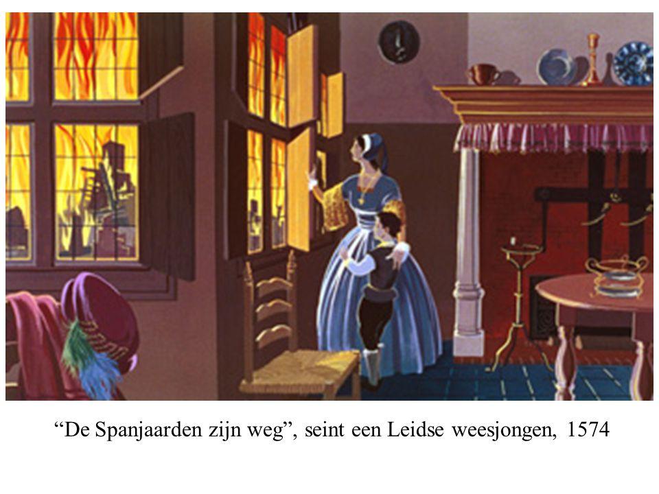 """""""De Spanjaarden zijn weg"""", seint een Leidse weesjongen, 1574"""