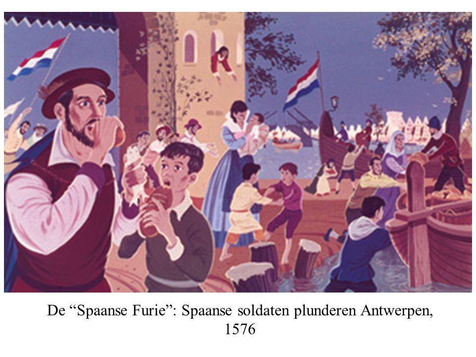 """De """"Spaanse Furie"""": Spaanse soldaten plunderen Antwerpen, 1576"""