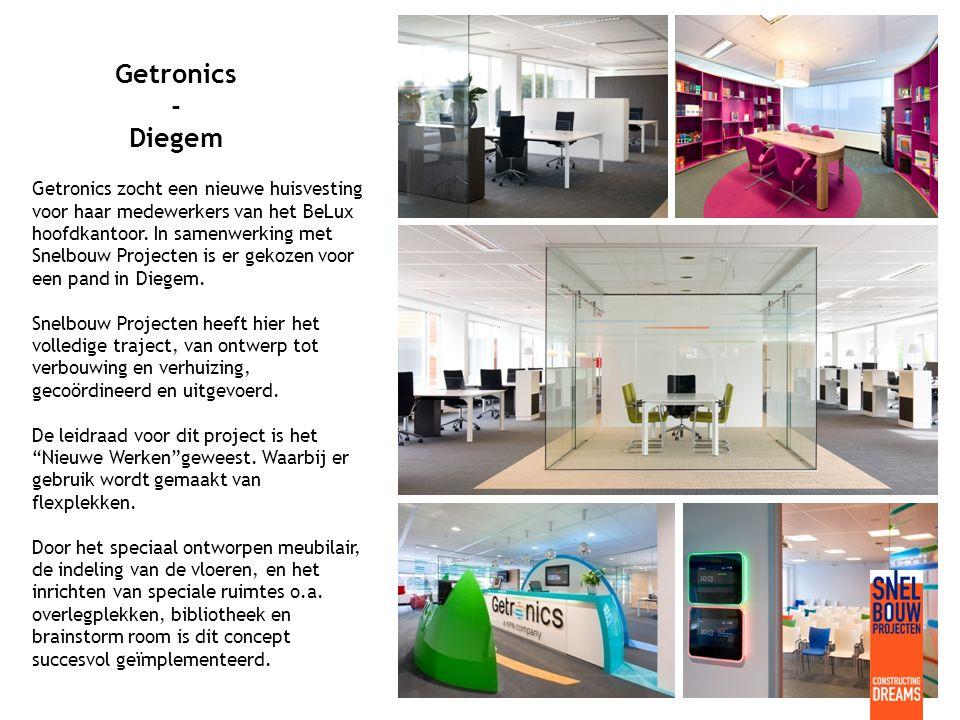Getronics - Diegem Getronics zocht een nieuwe huisvesting voor haar medewerkers van het BeLux hoofdkantoor.