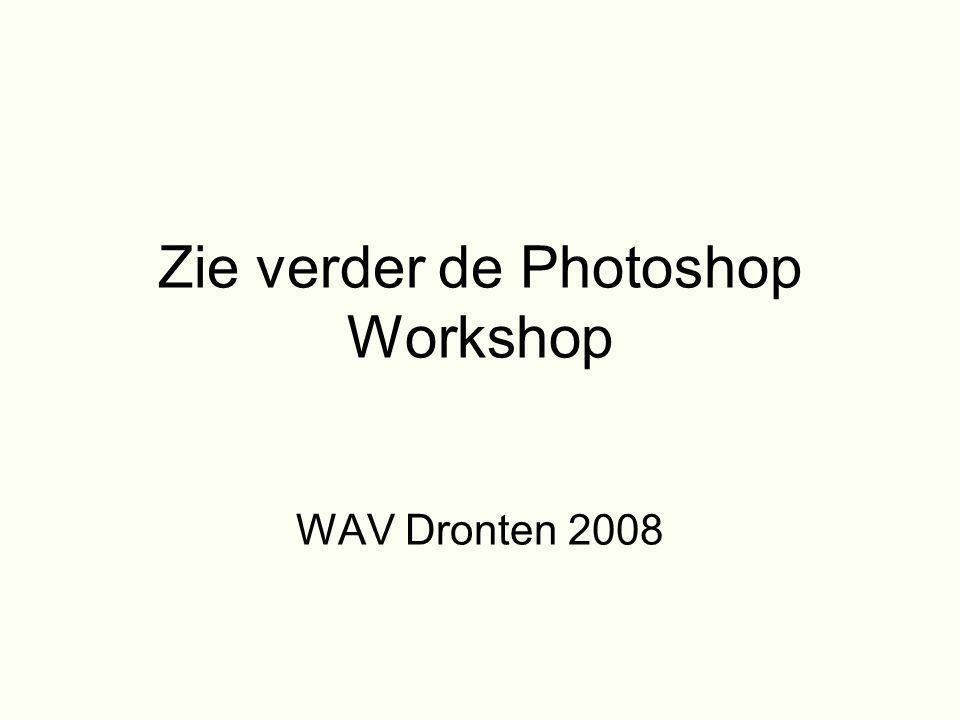 Zie verder de Photoshop Workshop WAV Dronten 2008