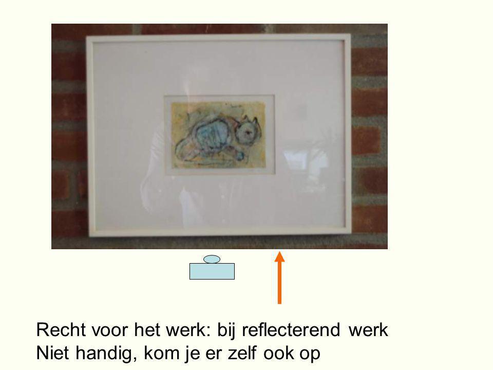 Recht voor het werk: bij reflecterend werk Niet handig, kom je er zelf ook op