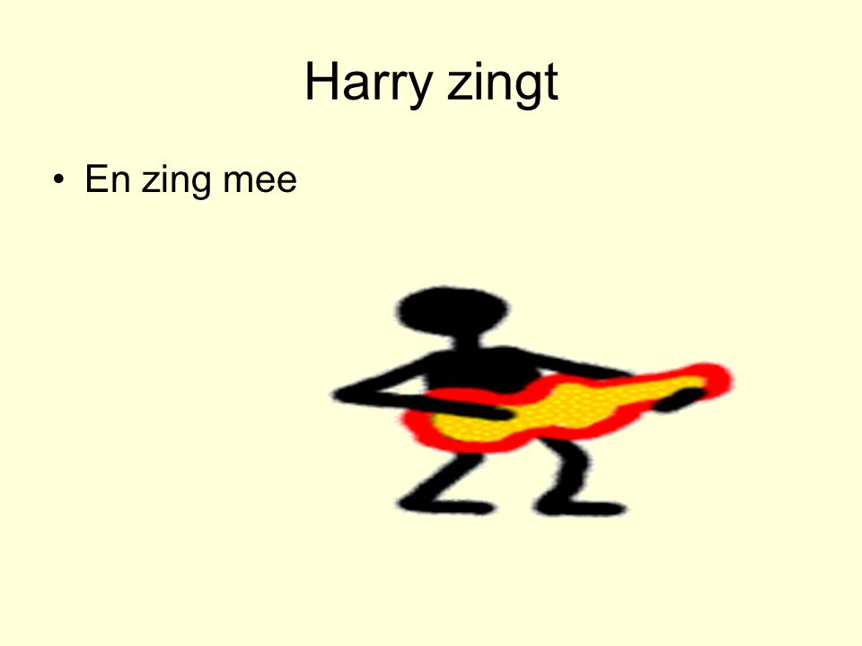 Harry zingt •En zing mee