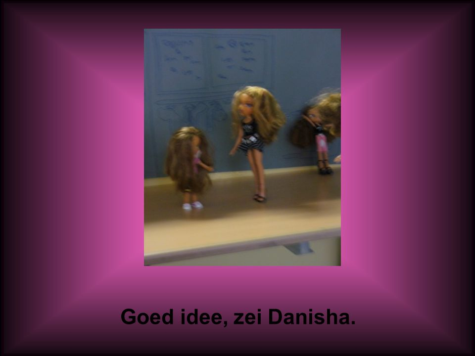 Goed idee, zei Danisha.
