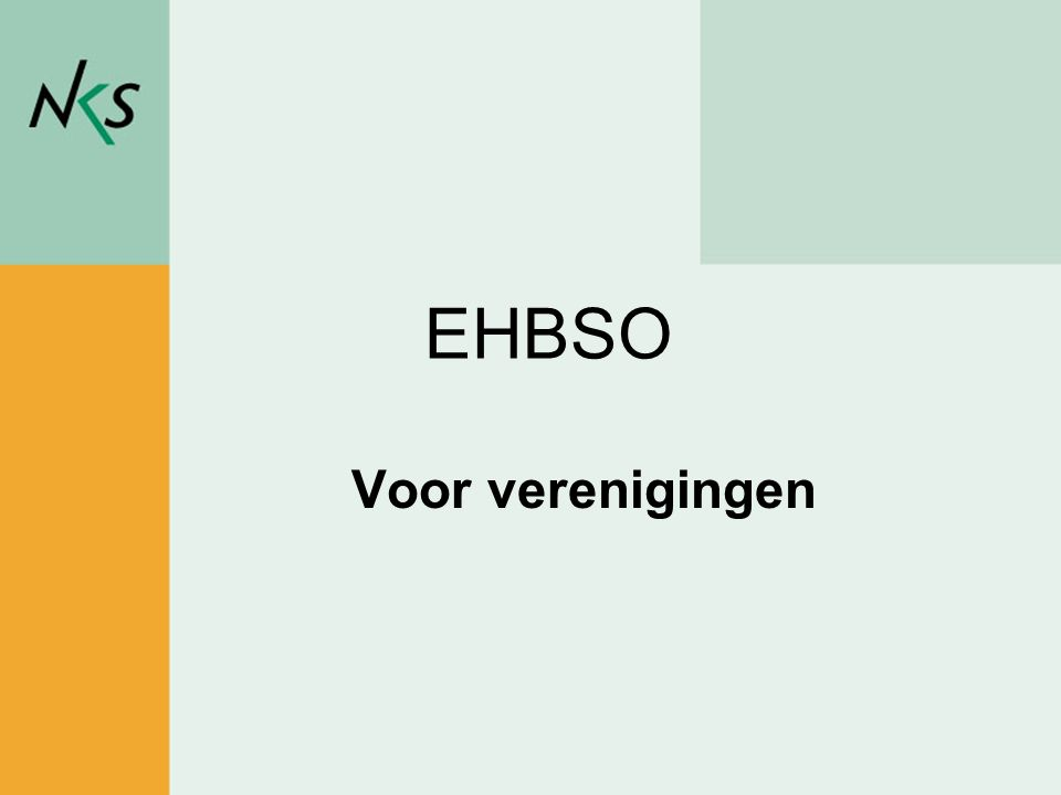 EHBSO Voor verenigingen