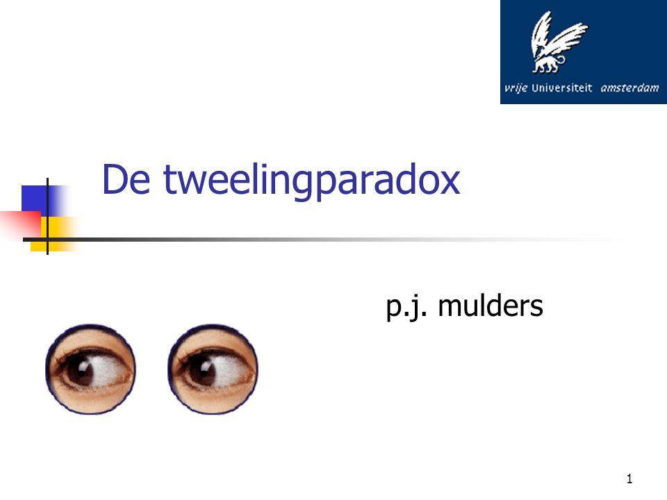 1 De tweelingparadox p.j. mulders