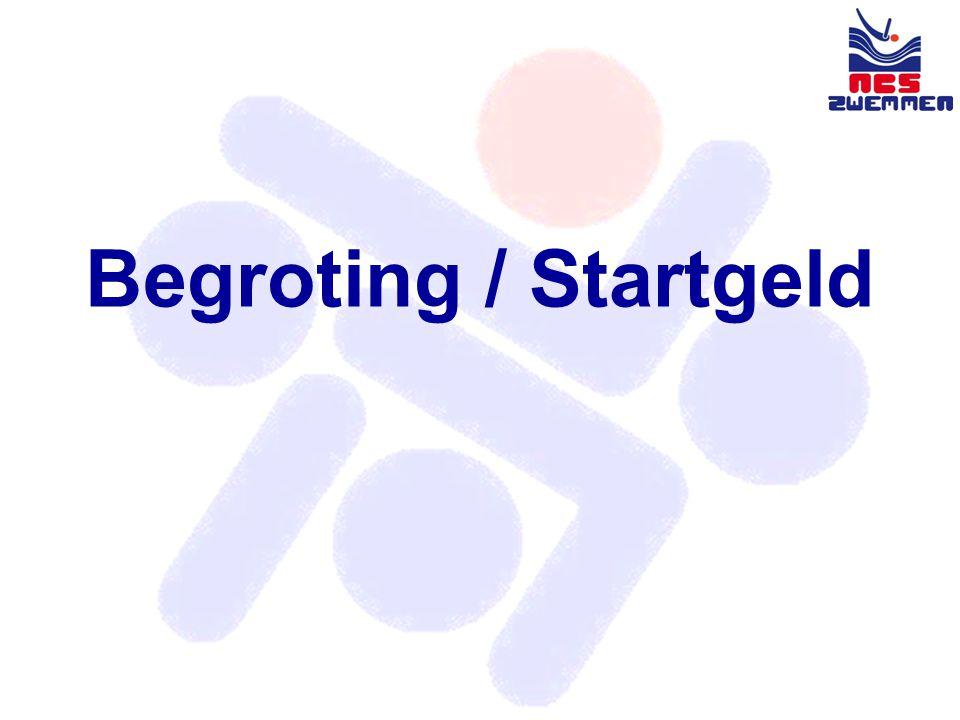 Begroting / Startgeld