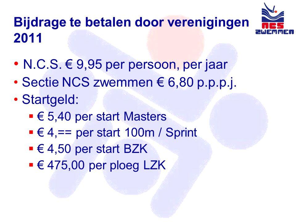 Bijdrage te betalen door verenigingen 2011 • N.C.S.