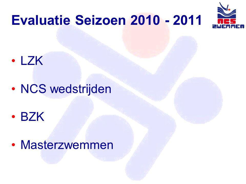 Evaluatie LZK 2010 - 2011 •Aanvangstijd juryvergadering •Levering officials •Fair Play •Inzwemmen