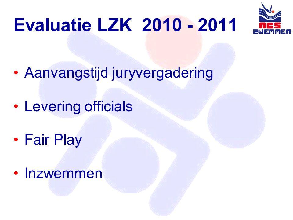 Evaluatie BZK •De beide Bondszwemkampioenschappen zijn door WV Almere en de Pijnackerse WV op een goede wijze voorbereid en uitgevoerd.