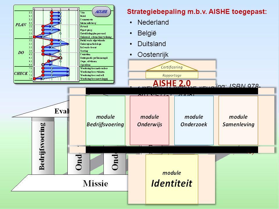 Strategiebepaling m.b.v. AISHE toegepast: •Nederland •België •Duitsland •Oostenrijk •Spanje •Oekraïne •Zweden (Zweedse vertaling: ISBN 978- 86135-17-1