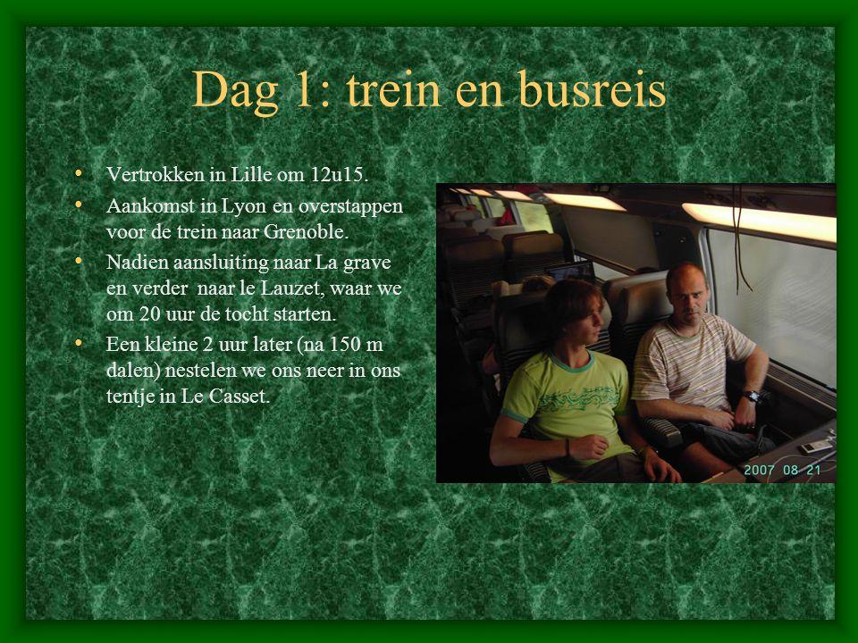 Dag 1: trein en busreis • Vertrokken in Lille om 12u15.
