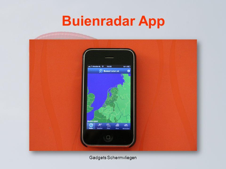 Buienradar App Gadgets Schermvliegen