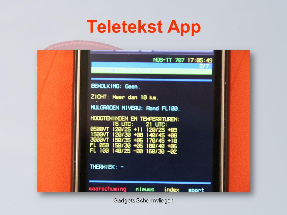 Teletekst App Gadgets Schermvliegen