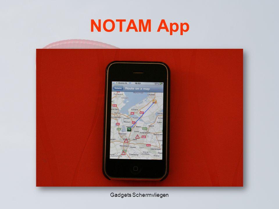 NOTAM App Gadgets Schermvliegen