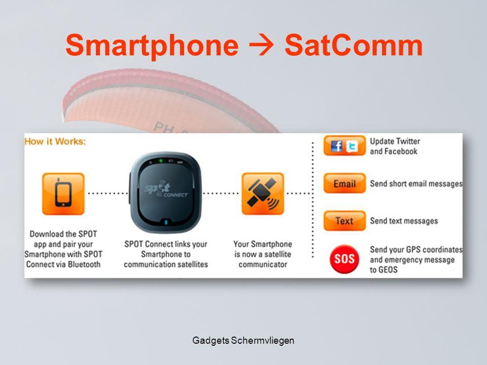 Smartphone  SatComm Gadgets Schermvliegen