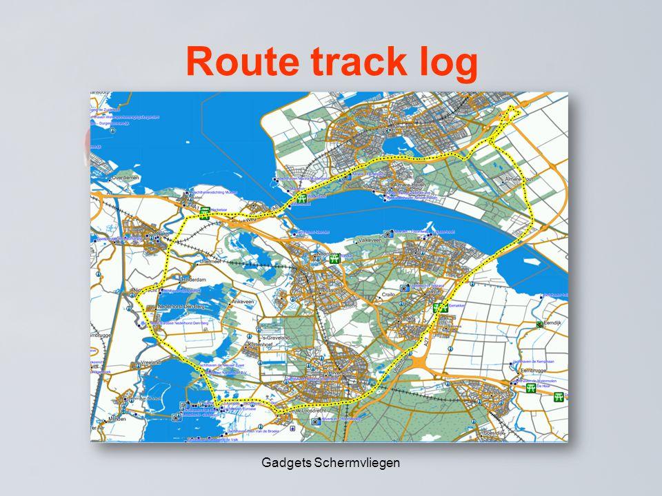 Route track log Gadgets Schermvliegen