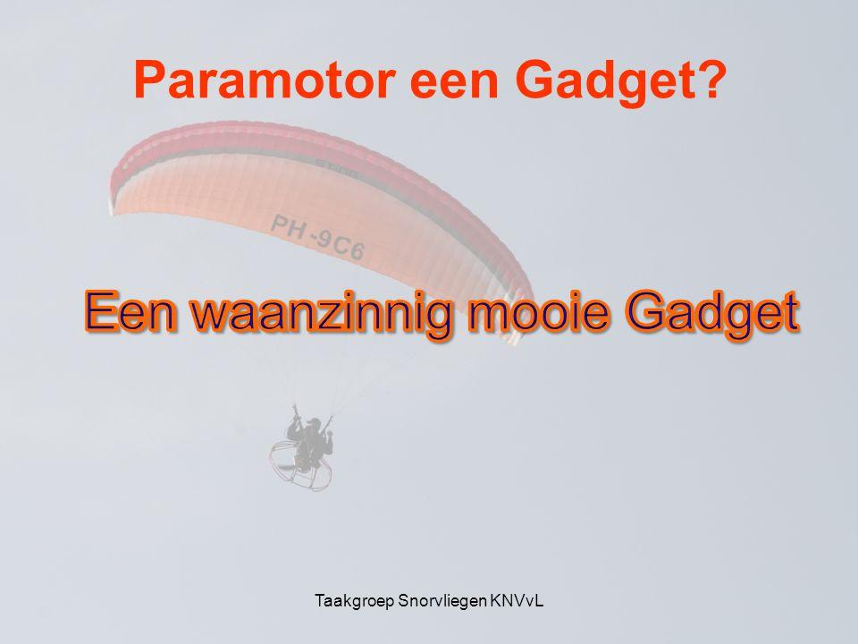 Paramotor een Gadget Taakgroep Snorvliegen KNVvL