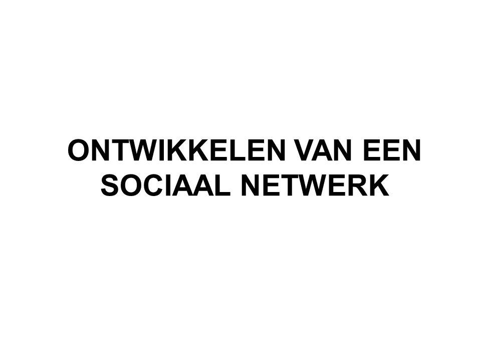 ONTWIKKELEN VAN EEN SOCIAAL NETWERK