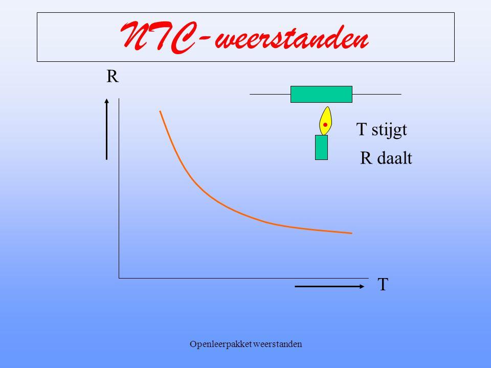 Openleerpakket weerstanden NTC-weerstanden Uitvoeringsvormen van NTC's